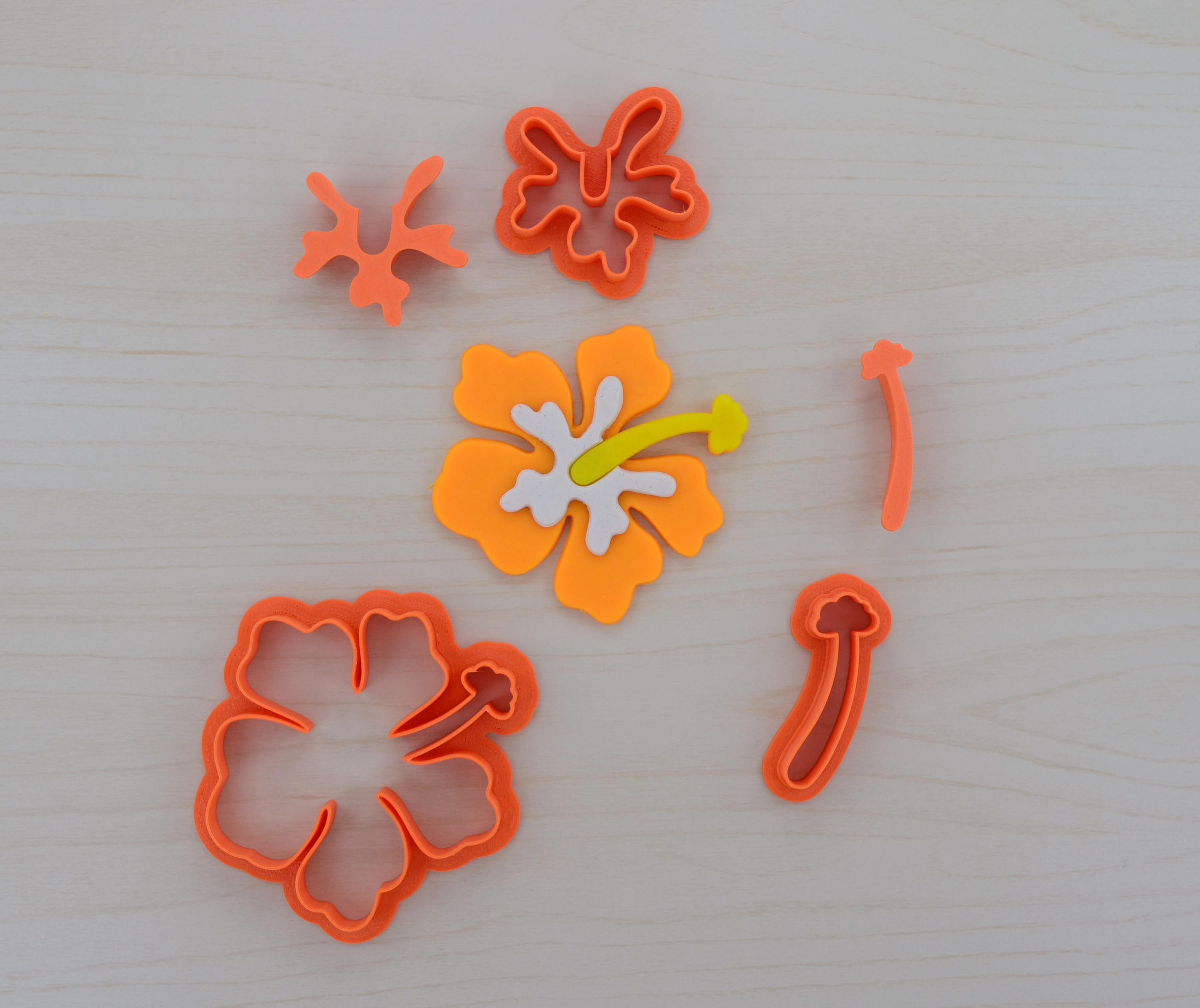 Hibiscus Fondant Cutter Set With Plungers Cookiecutters4u