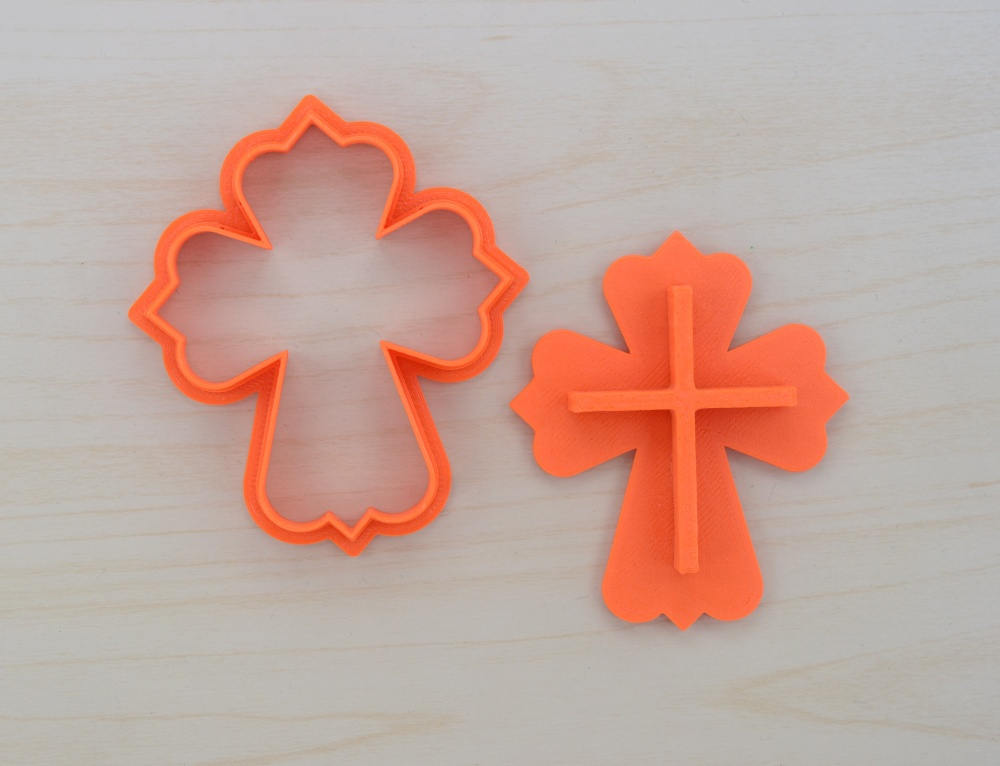 Details about  /Straight Cross Cookie Cutter 3 Sizes