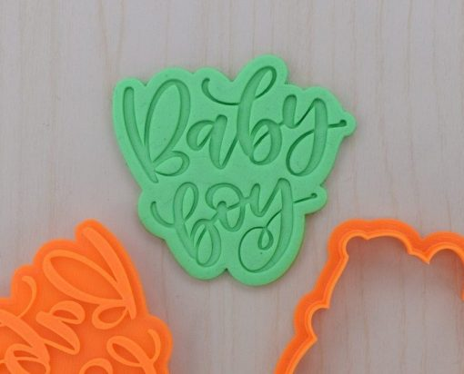 Baby Boy Cookie Cutter and Stamp Set
